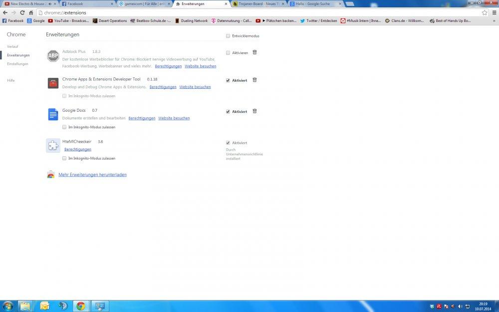 Google Chrome Add On Nicht Löschbar/ Ständige Werbung
