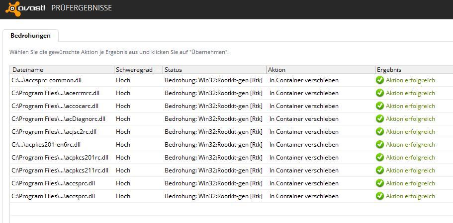 Windows Vista: Trojaner ActiveClient 6 1 x86 kann von Avast