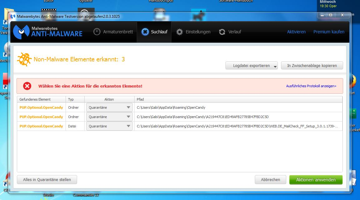 Malware Eingefangen