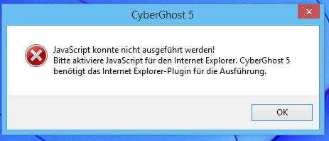 Cyberghost Probleme