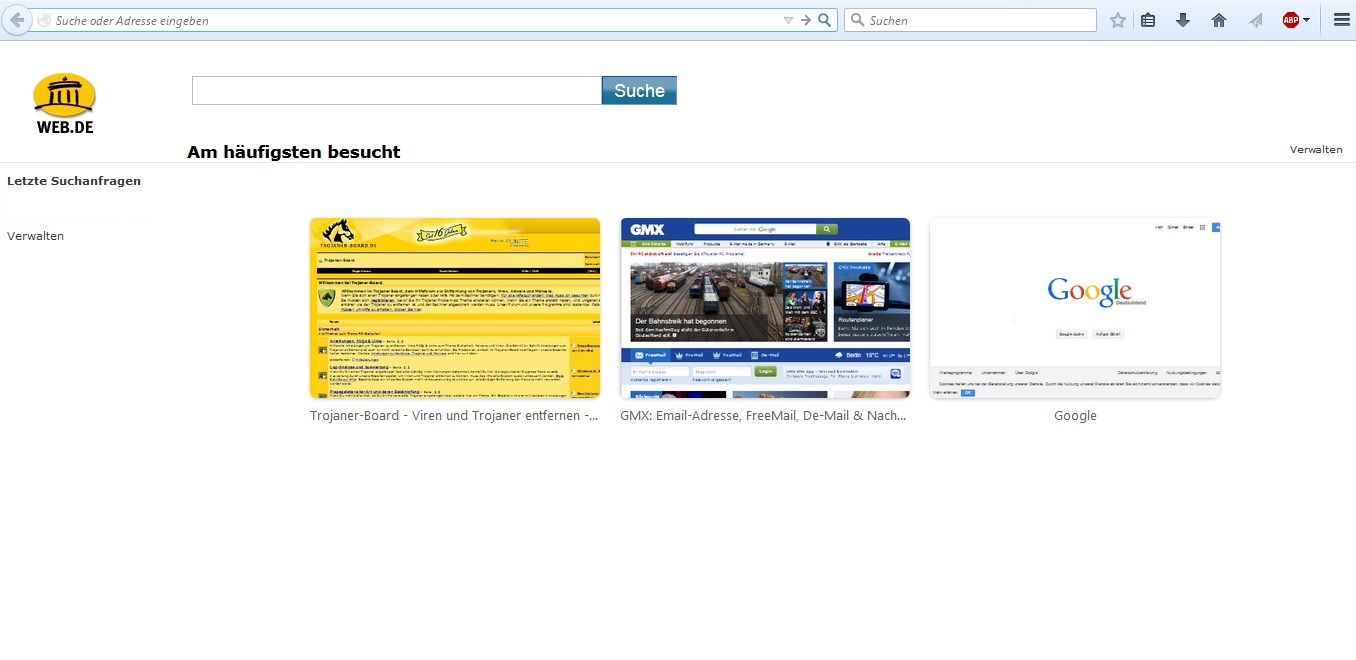 Mein Browser öffnen