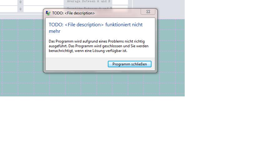 TODO-file description funktioniert nicht mehr