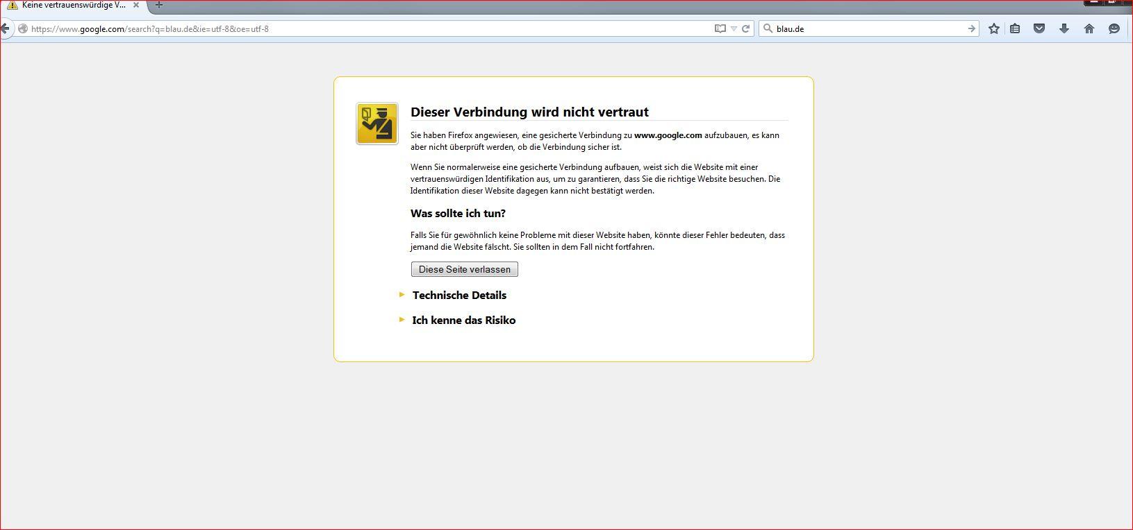 Mozilla Firefox fuktioniert nicht mehr