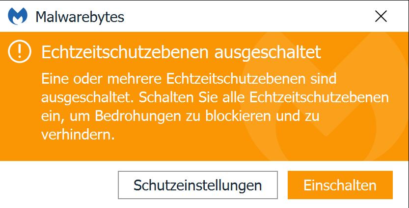 Verdacht auf Manipulation von Malwarebytes (Virus/Trojaner?)