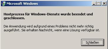 Hostprozess Für Windows-Dienste